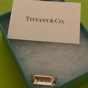Tiffany & Co 1837 Collection Square Ring size 8